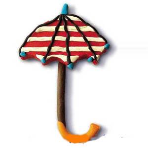 作品 橡皮泥/幼儿橡皮泥作品:小花伞