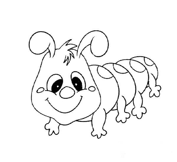 简笔画:睁大眼睛的毛毛虫教案课件下载-简笔画-幼儿