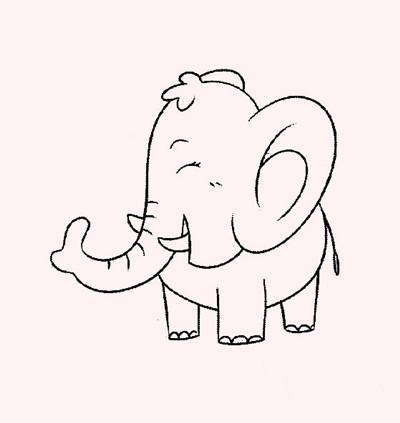 简笔画:可爱的大象