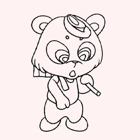 简笔画——小熊