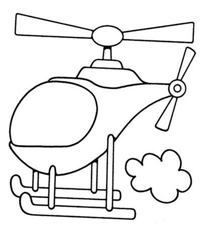 直升飞机 幼儿园涂色卡 幼儿园手工技能 61宝宝网